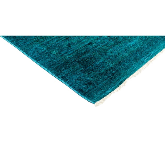 "New Teal Overdyed Hand-Knotted Rug - 8'2"" X 8'2"" - Image 2 of 3"