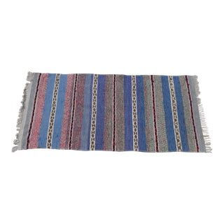 "Swedish Vintage Handwoven Rag Rug 3.1"" x 6.6"""