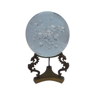 Glass Sphere on Brass Stand