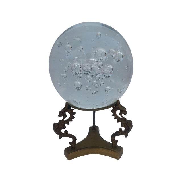 Image of Glass Sphere on Brass Stand