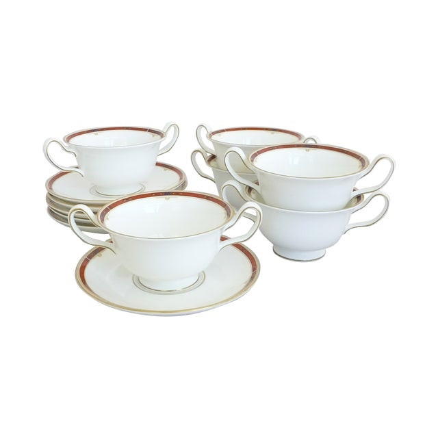 "Wedgwood ""Colorado Gold"" Cream Soup & Saucers Set - Image 1 of 7"