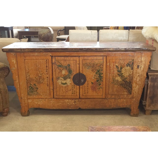Image of Rustic Chinese Floral Console