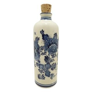 Delft Vintage Blue & White Porcelain Decanter
