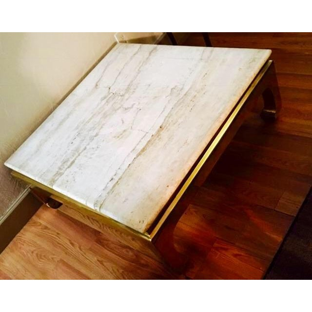Coffee Table Bases For Marble Tops: Marble Top Coffee Table With Brass Base