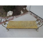 Image of Hollywood Regency Tufted Bench