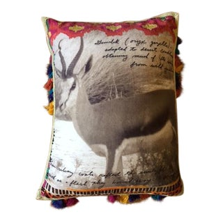 Peter Beard Inspired Anthropologie African Safari Gazelle PIllow