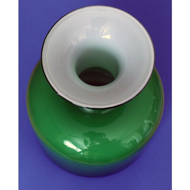 Green Holmegaard Glass Vase - Image 3 of 3