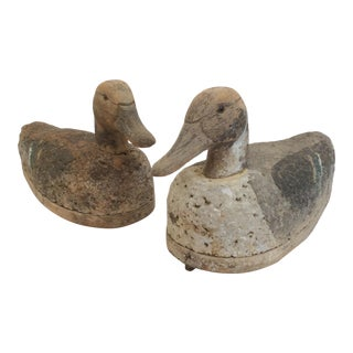 Antique Cork & Wood Decoys - A Pair