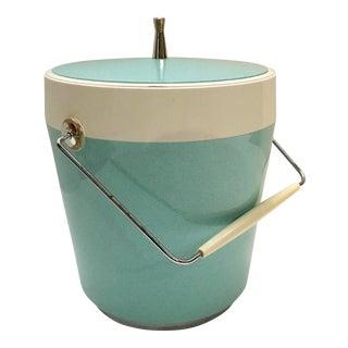 Mid-Century Aqua Insulated Ice Bucket