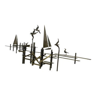 Curtis Jere Mid-Century Brass Art