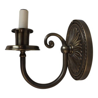 """Brass Light Gallery"" Brass Candle Sconce (5 Available)"