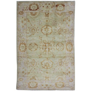Aara Rugs Inc. Hand Knotted Fine Oushak Rug - 4′ × 6′