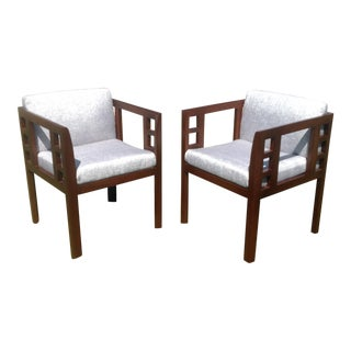 Mid-Century Modern Accent Chairs - A Pair