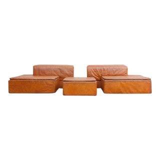"Modular Set of ""Paione"" Leather Sofa's by Claudio Salocchi for Sormani"