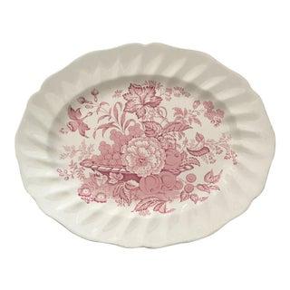 Pink Transfer-Ware English Platter
