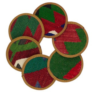 Gizem Kilim Coasters - Set of 6