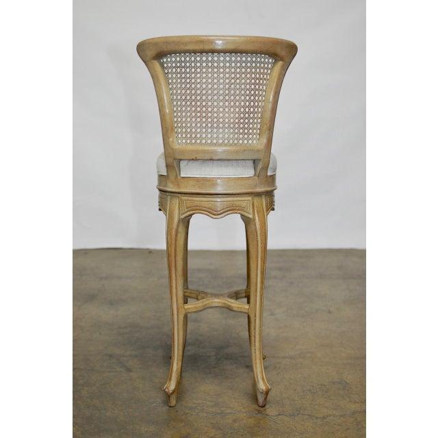 Vintage Swedish Gustavian Style Petite Barstools - Set of 4 - Image 9 of 10