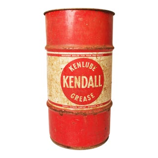 Vintage Industrial Kendall Oil Barrel