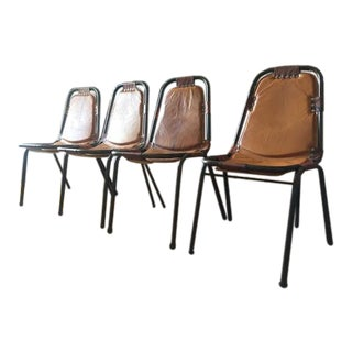 Padded Leather Strap Dining Chairs - Set of 4