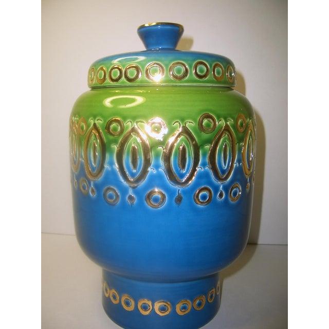 Mid Century Vase Art Pottery Bitossi Jar - Image 4 of 8
