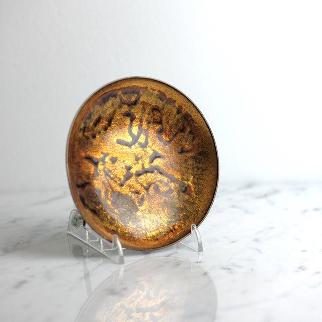 Anne-Grete Ploen Norway Enamel on Copper Dish - Image 3 of 6