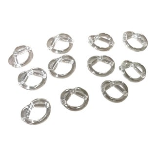 Dorothy Thorpe Lucite Napkin Rings - Set of 11