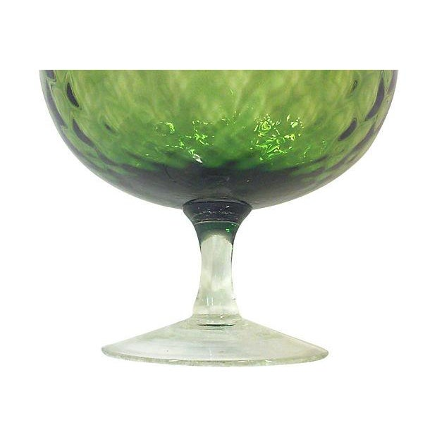 Image of Mid-Century Large Italian Olive Green Snifter Bowl