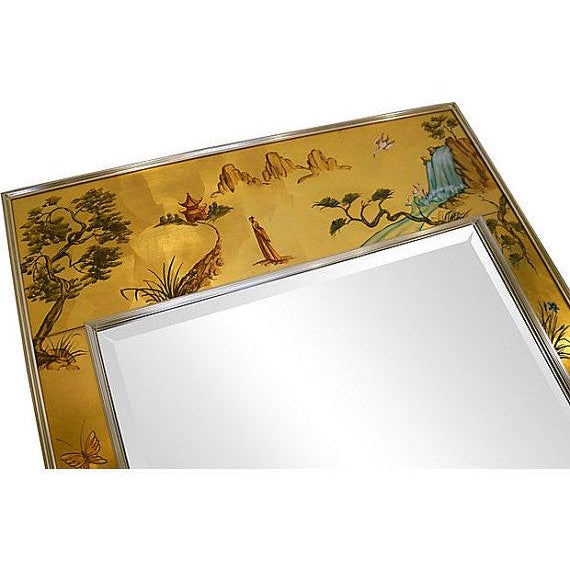 La Barge Chinoiserie Wall Mirror - Image 4 of 5