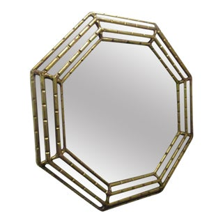 Octagonal Gold Gilt Mirror