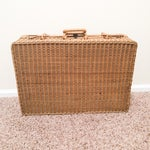 Image of Antique Wicker Suitcase