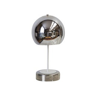 "Chrome ""Eyeball"" Table Lamp"