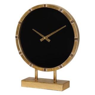 Gold & Black Mantle Clock
