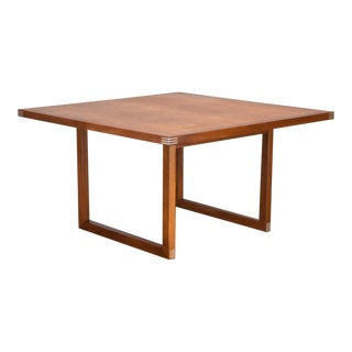 Rud Thygesen Danish Teak & Aluminum Coffee Table