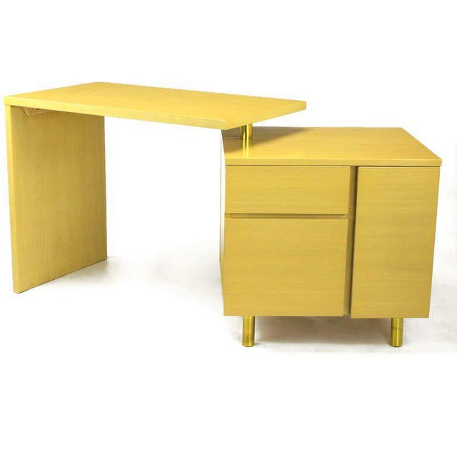 Bleached Mahogany Articulated Desk After Harvey Probber - Image 4 of 10