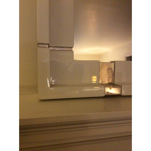 Kallista Laura Kirar Vir Stil White Lacquer Mirror - Image 5 of 7