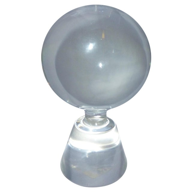 Image of Mid-Century Modern Murano Glass Crystal Ball