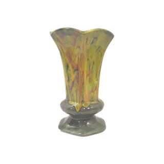 Olive Green Mid-Century Ceramic Vase
