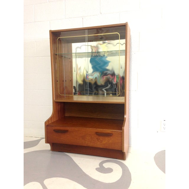 Mid-Century Modern Teak Glass Cabinet - Image 3 of 7