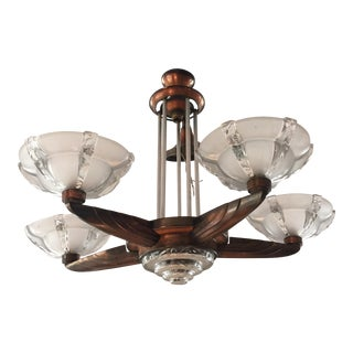 Art Deco Copper Chandelier