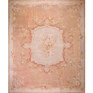 "Antique French Aubusson Rug - 15'1"" X 18'"