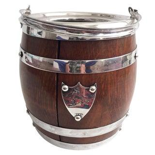 Antique Oak Biscuit Barrel