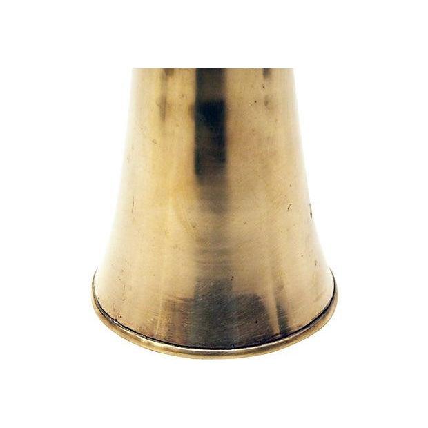 Sculptural Brass Vase - Image 4 of 6