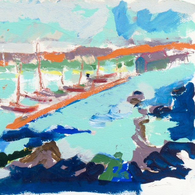 Monterey Harbor Painting by Robert Canete - Image 3 of 7