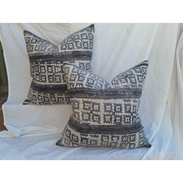 Yao Cross Batik Pillows - A Pair - Image 2 of 5