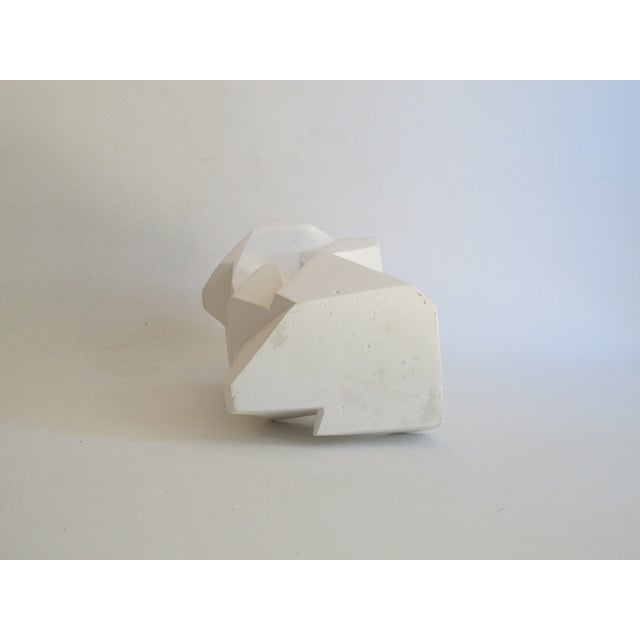 Image of Abstract Cubist White Plaster Statue