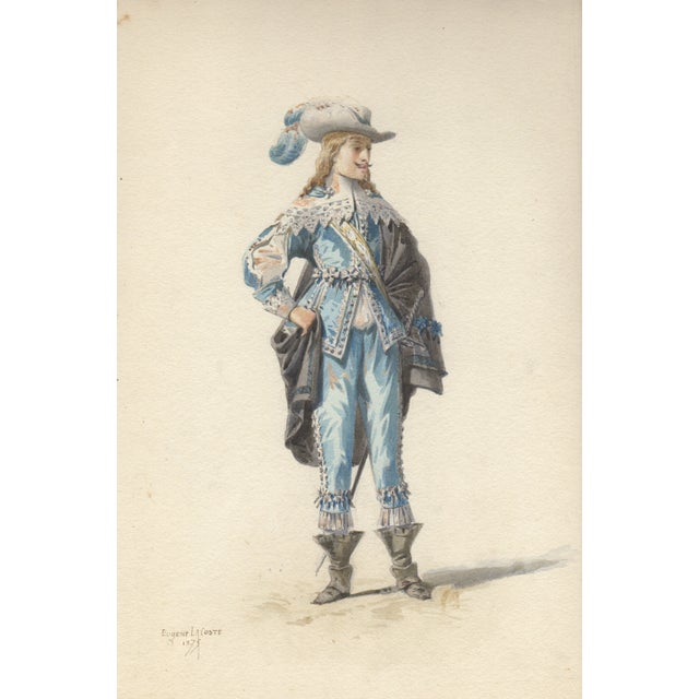 Image of Eugene LaCoste 1875 Opera Costume Watercolor