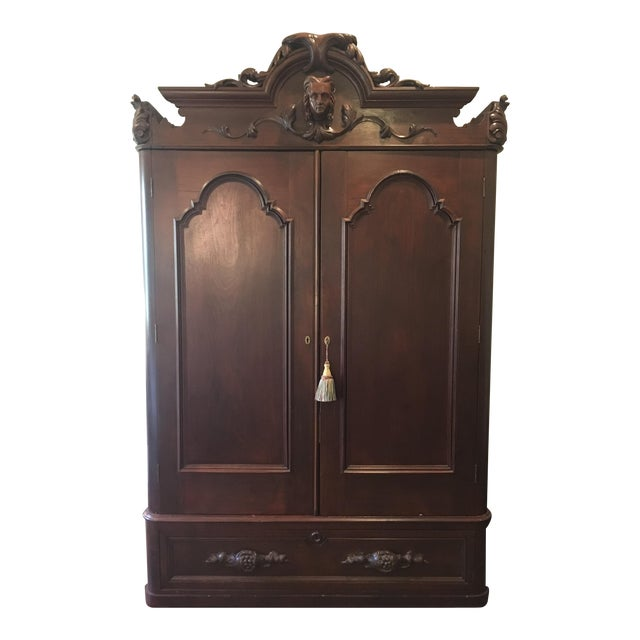 antique traditional style armoire chairish. Black Bedroom Furniture Sets. Home Design Ideas