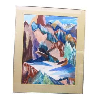 Pastel Mountain Scene Painting