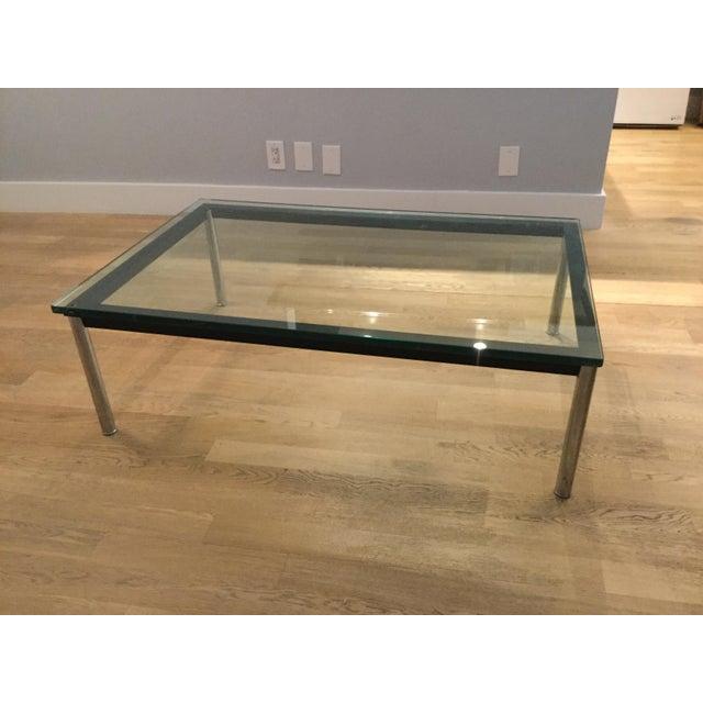 le corbusier lc10 p rectangular coffee table chairish. Black Bedroom Furniture Sets. Home Design Ideas