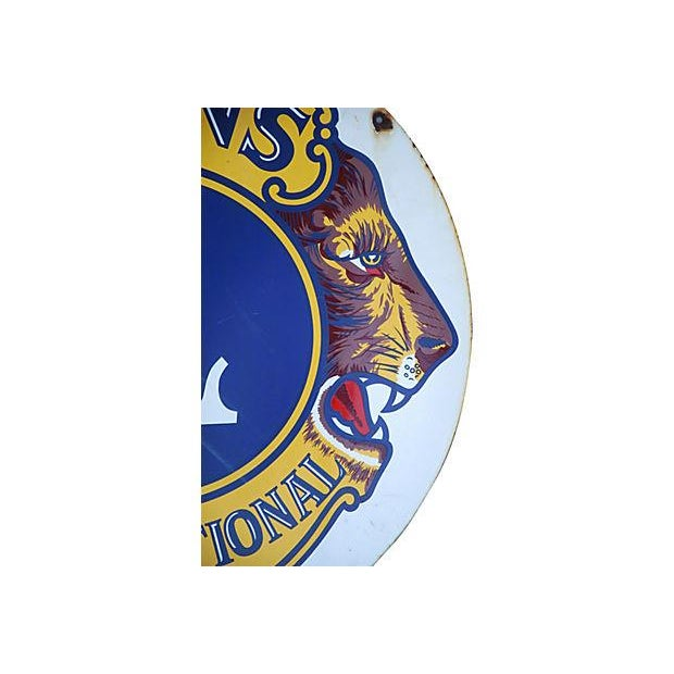 Image of Large 1950s Lions Club Enameled Porcelain Sign